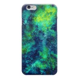 "Чехол для iPhone 6 ""Green Space"" - звезды, космический дизайн, space design, galaxy art, case space iphone"