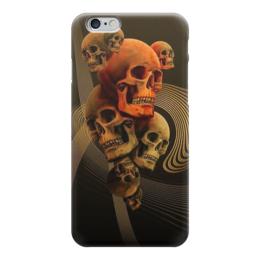 "Чехол для iPhone 6 глянцевый ""Skull Art"" - skull, череп, черепа, графика, абстракция"