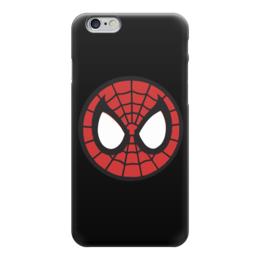 "Чехол для iPhone 6 глянцевый ""Spider-man / Человек-паук"" - человек-паук, spider-man, мультфильм, комиксы, фильм"