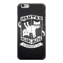 """Чехол для iPhone 6 """"Кот Шрёдингера (Живой, Мертвый)"""" - cat, dead, alive"""