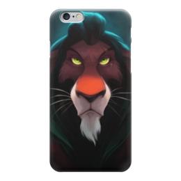 "Чехол для iPhone 6 ""Шрам (Король Лев)"" - lion king, король лев, шрам"