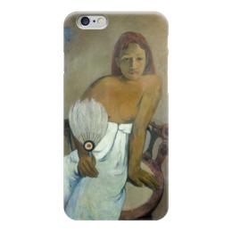 """Чехол для iPhone 6 """"Девушка с веером"""" - картина, поль гоген"""