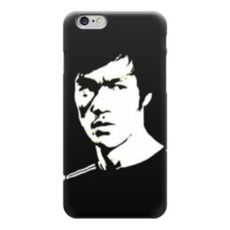 """Чехол для iPhone 6 глянцевый """"Bruce black/white"""" - bruce lee, ли, брюс, брюс ли, bruce"""