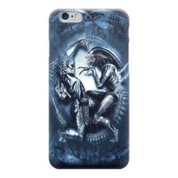 """Чехол для iPhone 6 """"Чужой против Хищника / Alien vs Predator"""" - хищник, рисунок, кино, чужой"""