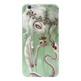 "Чехол для iPhone 6 ""Девушка с яблоком (зомби)"" - змея, девушка, хэллоуин, zombie, зомби"