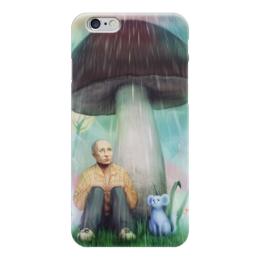 """Чехол для iPhone 6 """"Дождик лей, ветер дуй. Президенту хоть бы..."""" - любовь, страна, россия, russia, патриотизм, иллюстрация, путин, президент, putin"""
