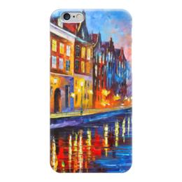 """Чехол для iPhone 6 глянцевый """"Амстердам"""" - амстердам, amsterdam, канал"""