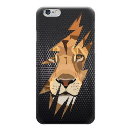 "Чехол для iPhone 6 ""Лев (Lion)"" - лев, lion, царапина"