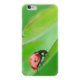 """Чехол для iPhone 6 глянцевый """"божья коровка"""" - природа, божья коровка, красота"""