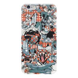 """Чехол для iPhone 6 """"Stars Circus"""" - коллаж, тигр, клоун, театр, цирк"""