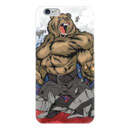 "Чехол для iPhone 6 глянцевый ""Русский Медведь (Russian Bear)"" - bear, россия"