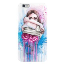 """Чехол для iPhone 6 """"Обнажая сущность"""" - гранж, арт, девушка, розы, сюрреализм"""