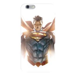"Чехол для iPhone 6 ""Супермен (Superman)"" - комиксы, superman, dc, dc comics, супермэ"
