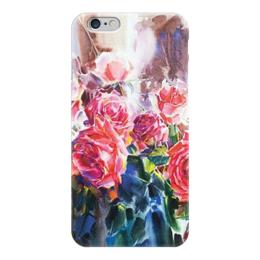 """Чехол для iPhone 6 """"Акварель"""" - акварель, розы, roses"""