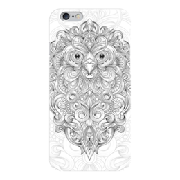 "Чехол для iPhone 6 ""Сова с узорами"" - узоры, птица, графика, сова, тату"