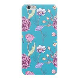 """Чехол для iPhone 6 глянцевый """"Цветочное настроение"""" - арт, цветы, цветочное настроение"""