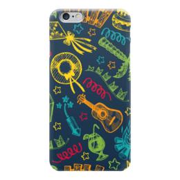 "Чехол для iPhone 6 ""Карнавал"" - гитара, шляпа, фестиваль, карнавал, коктейль"