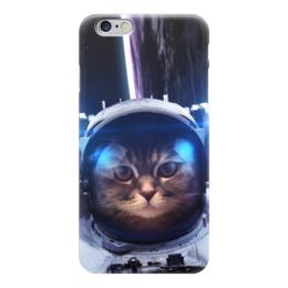 "Чехол для iPhone 6 глянцевый ""Кот космонавт"" - юмор, space, космос, наука, thespaceway"