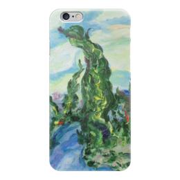 """Чехол для iPhone 6 """"Ветер"""" - пейзаж, франция, ветер, кипарисы"""