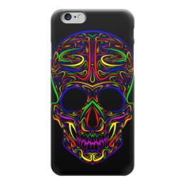 """Чехол для iPhone 6 """"Skull Art"""" - skull, череп, artwork, цветной череп, арт дизайн"""