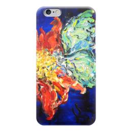"""Чехол для iPhone 6 глянцевый """"Нектар"""" - бабочка, flower, весна, butterfly, цветочки"""
