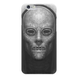 """Чехол для iPhone 6 """"Mask 472"""" - страх, серый, черный, маска, капюшон"""