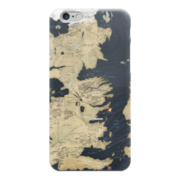 "Чехол для iPhone 6 ""Карта Вестерос, Игра престолов"" - игра престолов, game of thrones, вестерос, westeros, song of ice and fire, песнь льда и огня"
