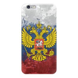 "Чехол для iPhone 6 ""Россия (Russia)"" - россия, герб, russia, орел, триколор"