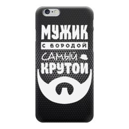 """Чехол для iPhone 6 глянцевый """"Мужик с Бородой"""" - борода, beard"""