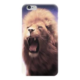 """Чехол для iPhone 6 глянцевый """"Лев"""" - lion, animal, лев, зверь"""