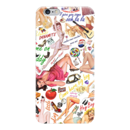"Чехол для iPhone 6 глянцевый ""Ooh la la"" - ретро, коллаж, пинап, retro, pin-up"