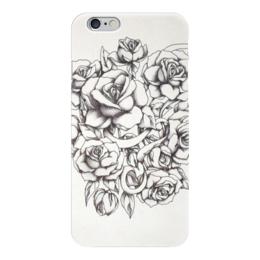 """Чехол для iPhone 6 глянцевый """"Roses"""" - цветы, розы, тату, tattoo"""