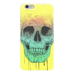 """Чехол для iPhone 6 """"Череп"""" - skull, череп, поп арт, pop art"""