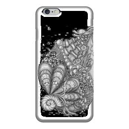 """Чехол для iPhone 6 """"Морская абстракция"""" - стиль, черно-белая, графика, абстракция"""
