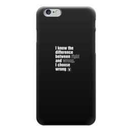 """Чехол для iPhone 6 глянцевый """"I choose wrong"""" - playboy, плейбой"""