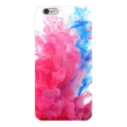 "Чехол для iPhone 6 ""Краски"" - голубой, розовый, краски, дым"