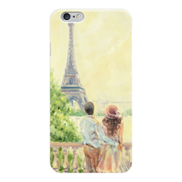 "Чехол для iPhone 6 глянцевый ""Любовь в Париже"" - любовь, пары, париж, love, paris"