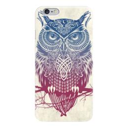 """Чехол для iPhone 6 глянцевый """"Owl ( Сова )"""" - искуство, рисунок, животные, природа, strigiformes"""