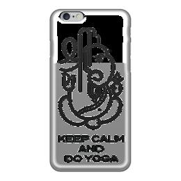 """Чехол для iPhone 6 глянцевый """"Yoga """" - йога, keep calm, ганеша, духовность, yoga"""