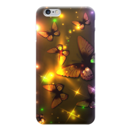 "Чехол для iPhone 6 глянцевый ""бабочки"" - бабочки, красота, природа, фентази"