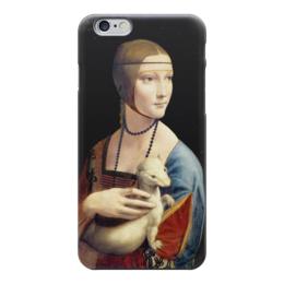 "Чехол для iPhone 6 ""Дама с горностаем (Леонардо да Винчи)"" - картина, портрет, да винчи"