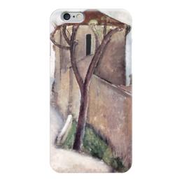 """Чехол для iPhone 6 """"Дерево и дом"""" - картина, модильяни"""