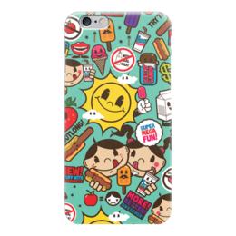 "Чехол для iPhone 6 ""Супер Мега Весело"" - sticker bombing, стикер-арт, мега весело, mega fun"