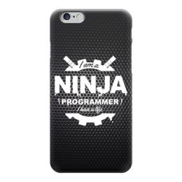 """Чехол для iPhone 6 глянцевый """"Ninja Programmer"""" - ниндзя, программист, ninja, ninja programmer"""