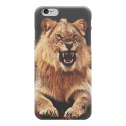 """Чехол для iPhone 6 """"Lion"""" - царь, хищник, лев, lion"""
