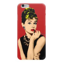 """Чехол для iPhone 6 глянцевый """"Одри Хепбёрн (Audrey Hepburn)"""" - одри, popart, worhol, одри хепберн"""