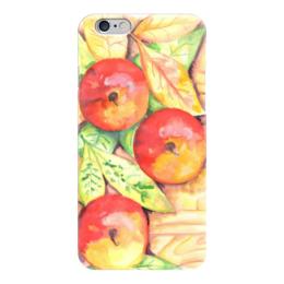 """Чехол для iPhone 6 """"Осенние Яблоки"""" - листья, осень, дерево, иллюстрация, яблоки"""