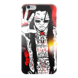 "Чехол для iPhone 6 глянцевый ""Лил Уэйн (Lil Wayne)"" - rap, лил уэйн, lil wayne"