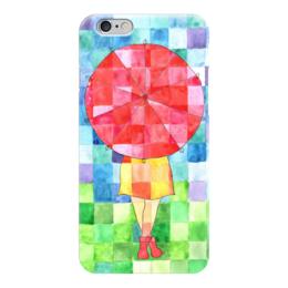 "Чехол для iPhone 6 ""Мозаика"" - девушка, осень, ярко, мозаика, зонт"