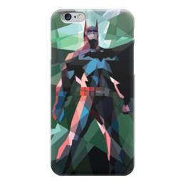 """Чехол для iPhone 6 """"Бэтмен"""" - batman, бэтмен, dc, полигоны"""